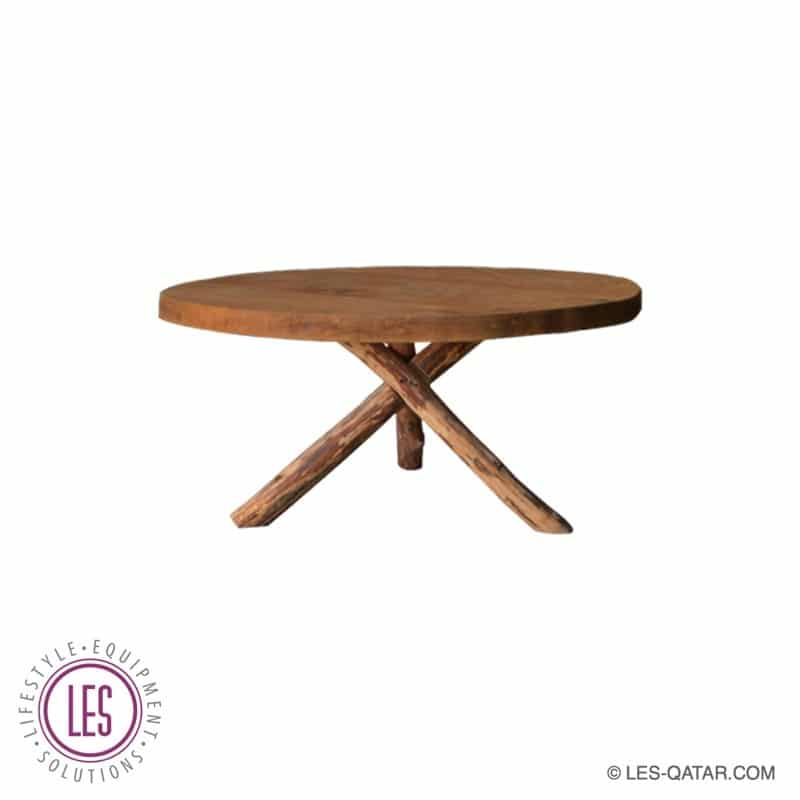 LES Real Wood Round Coffee Table – LES000012