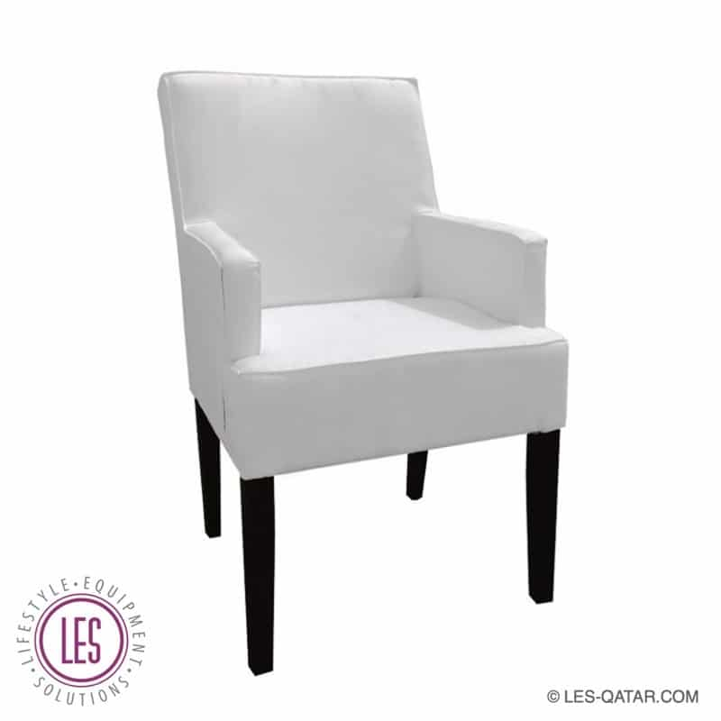 LES Fabric Luxury Armchair – White – LES000063