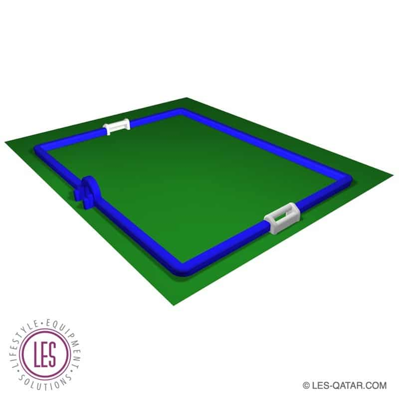 LES Inflatable Inflatable Football Sports Pitch – 40 x 30 meters – LES000141