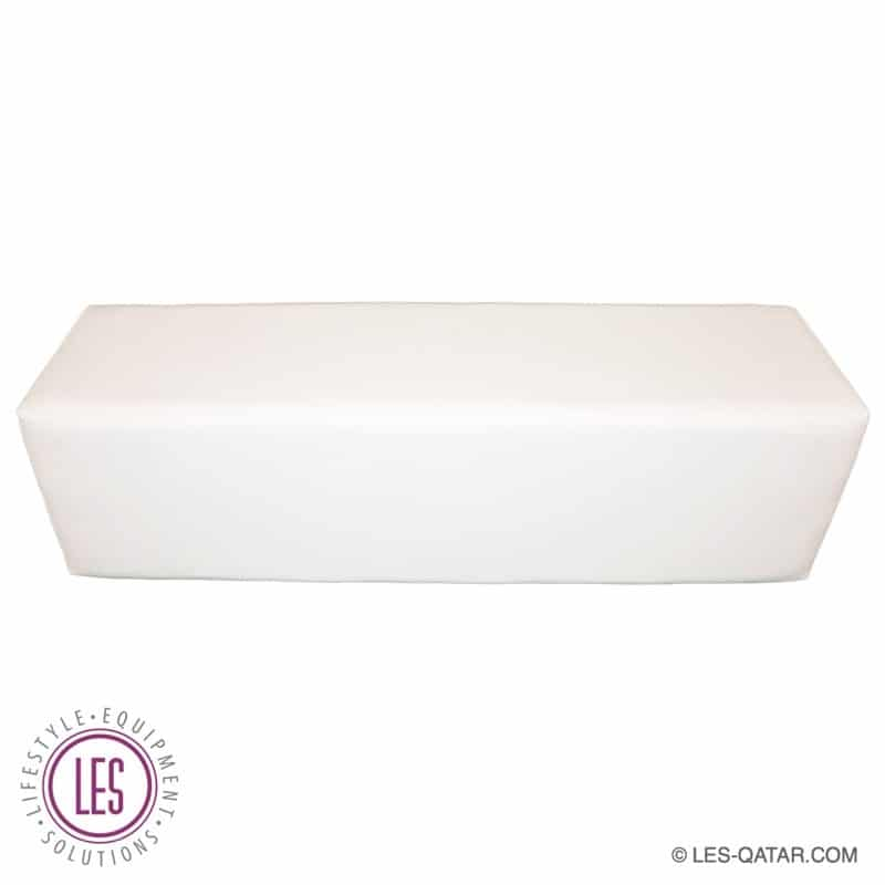 LES Leather Lounge Bench – White – LES000092