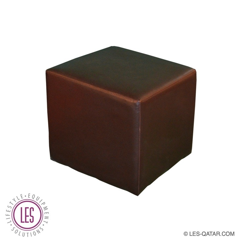 LES Leather Lounge Cube Seater – Brown – LES000106