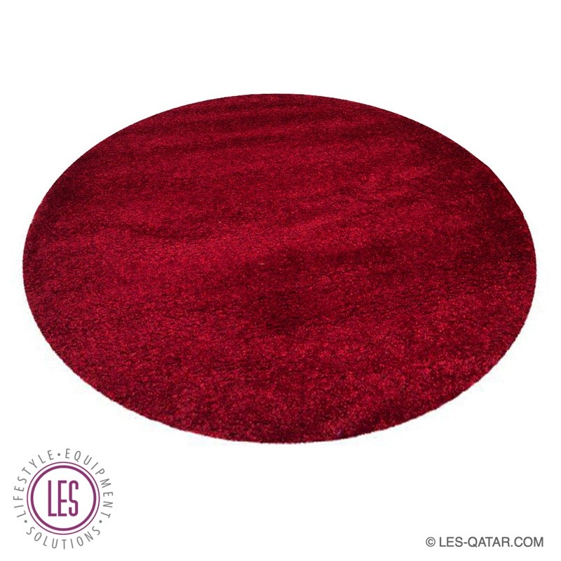 LES round carpet maroon – LES000205