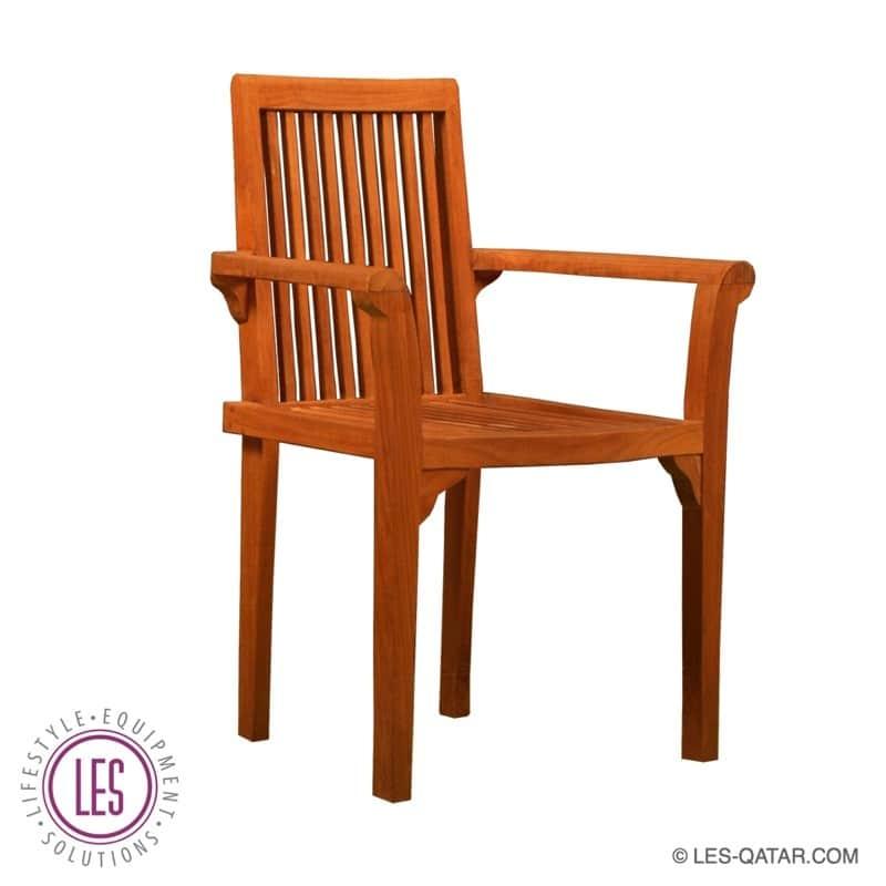 LES Teak Wood Armchair – LES000048