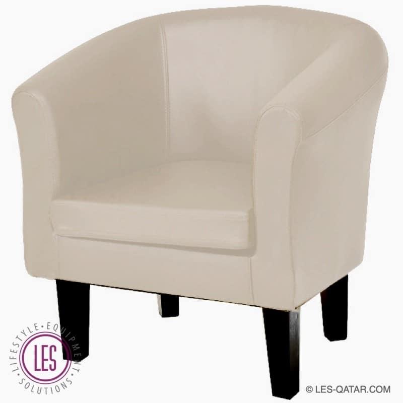 LES Classic Leather Armchair – Creme – LES000077B