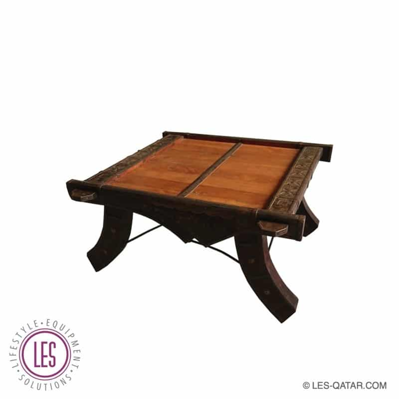 LES Wooden Arabic Style Square Coffee Table – Handcrafted – LES000294