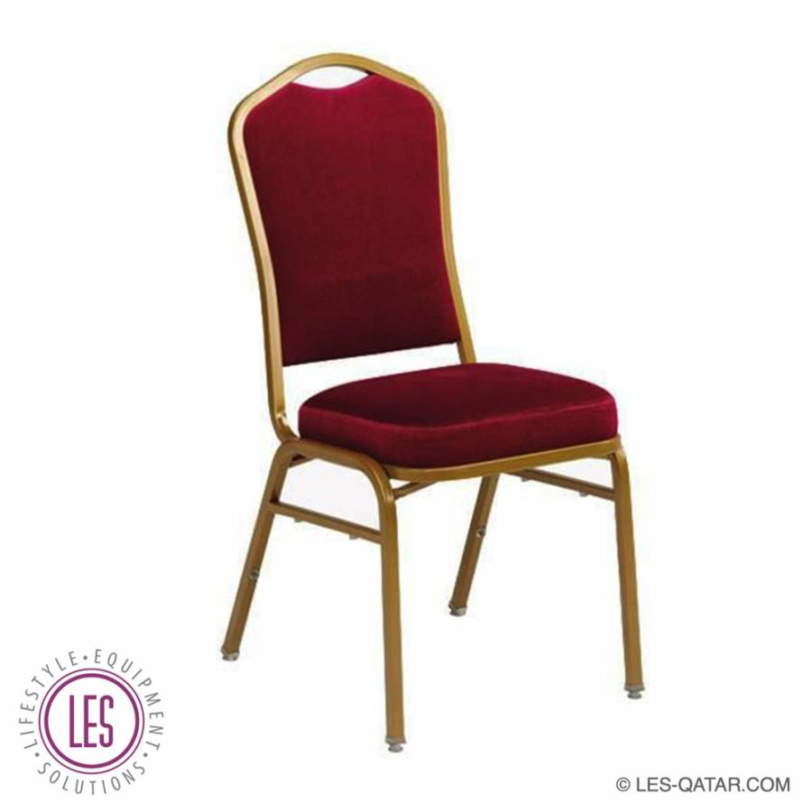 LES banquet chair Atlanta maroon