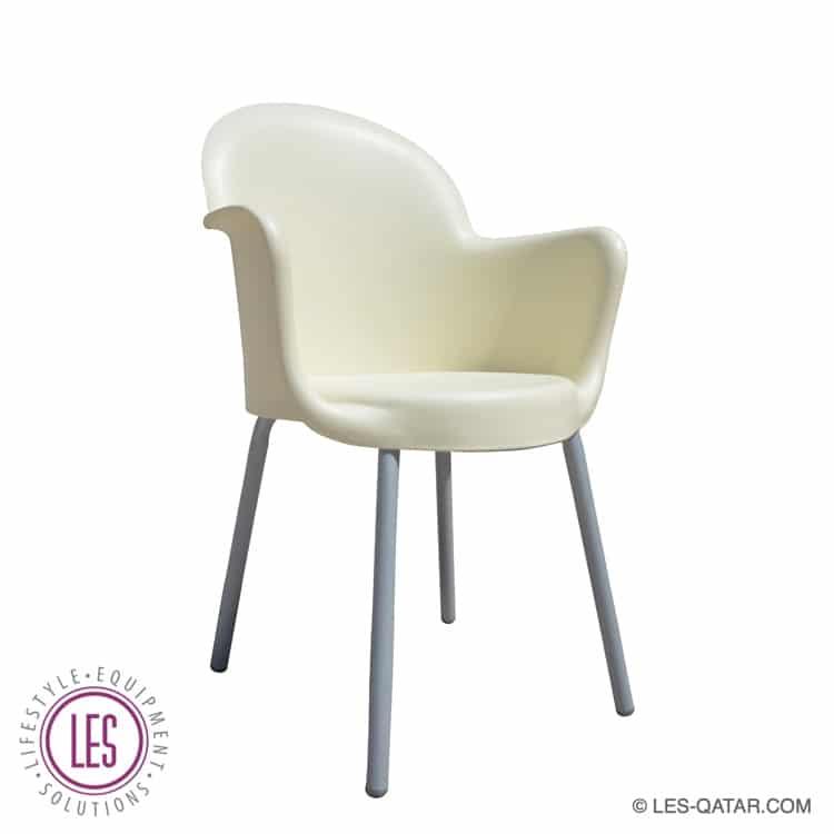LES design chair Michelangelo Creme