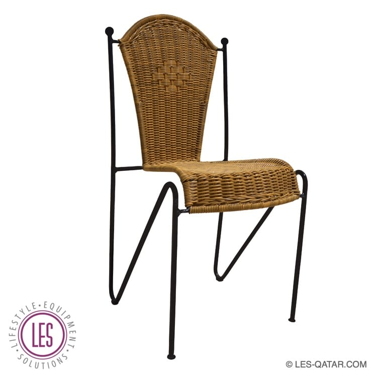 LES wooden chair with cast iron frame