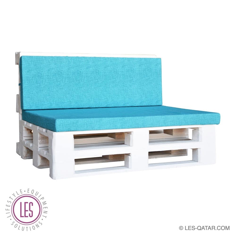 LES pallet furniture foam mattress set – turquoise