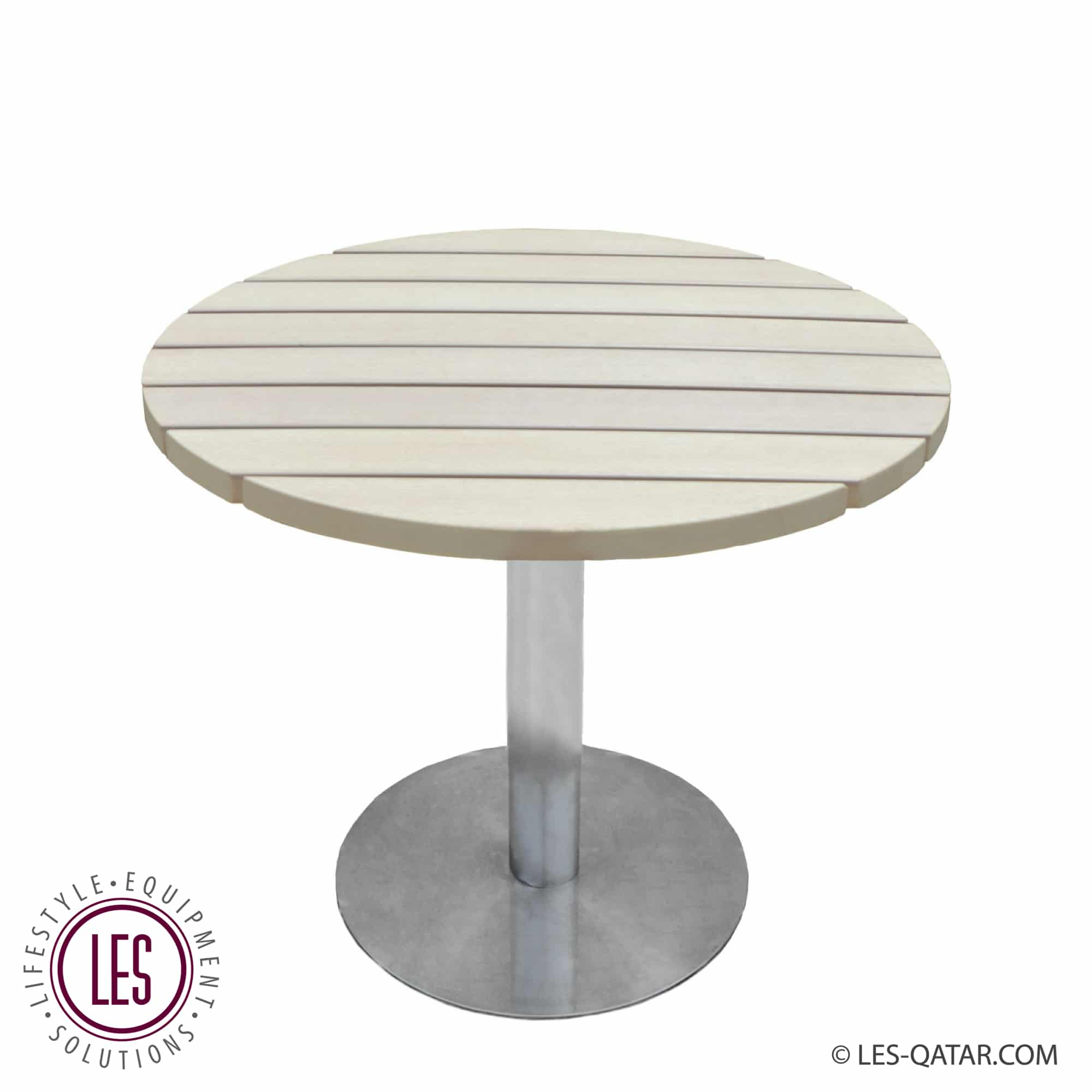 LES Polywood round lounge table