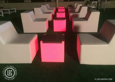 LES LED Aluminium Table Cube
